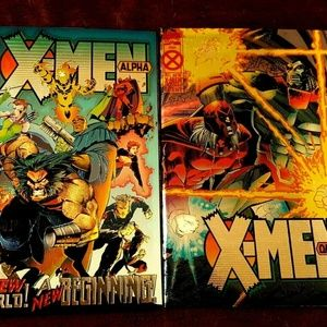 X Men Alpha & Omega Chrome Covers 1994/95 Marvel